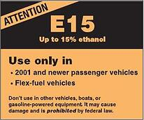 what does e15 mean