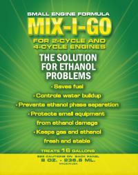mix-i-go small engine, small engine fuel treatment, small engine fuel additive, small engine fuel additives, small engine ethanol