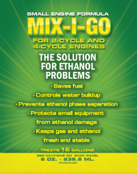 mix-i-go small engine, small engine fuel treatment, small engine fuel additive, small engine fuel additives, small engine ethanol