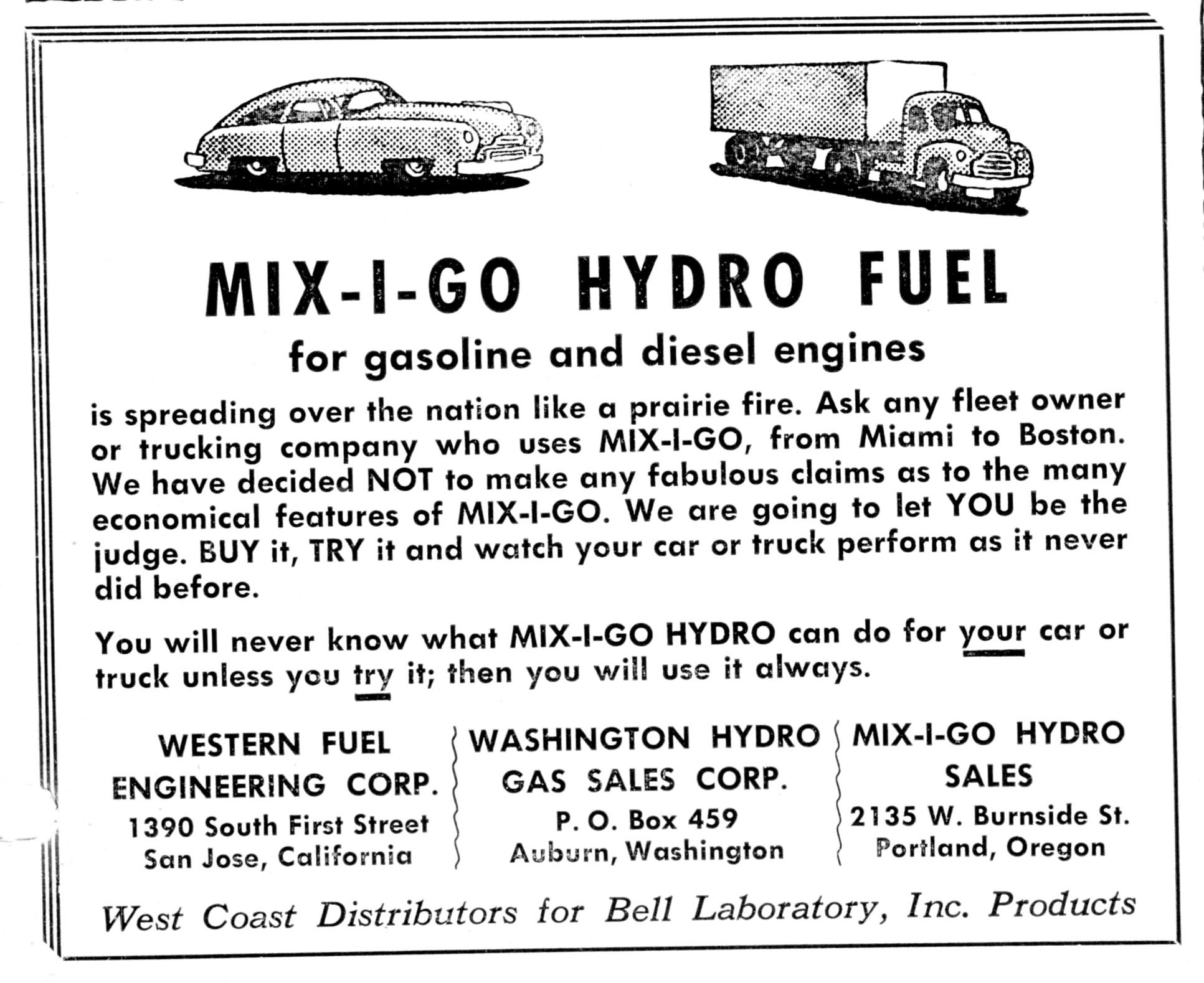 advert MXO Hydro Motor Transportation 0452 400 FB