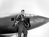 Chuck Yeager with GlamorousGlennis